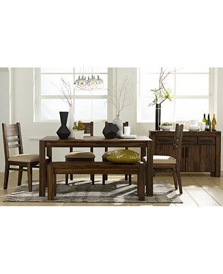 Avondale Dining Room Set Only At Macys Table Bench 4 Side Chairs