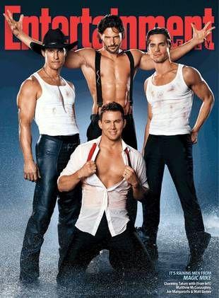 OMG lol very yummy....Cant wait til movie.  Matthew McConaughey, Channing Tatum, Joe Mantangiello, and Matt Bomer