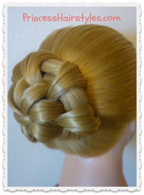 Braided Bubble Bun Dance Hairstyle Tutorial Princess