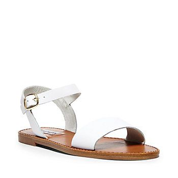 6ec46bf8777 Donddi black leather | Clothes | Leather sandals flat, Ankle strap ...