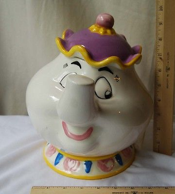 Disney Mrs Potts Ceramic Cookie Jar Beauty The Beast For The