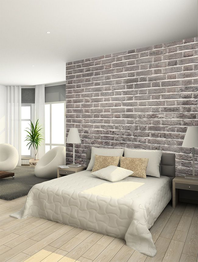 New Collection: Texture Effect Wallpaper Murals | Interiors_BR | Bedroom decor, Brick wallpaper ...