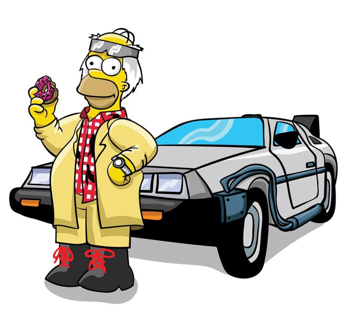 Homer X Back To The Future Simpsons