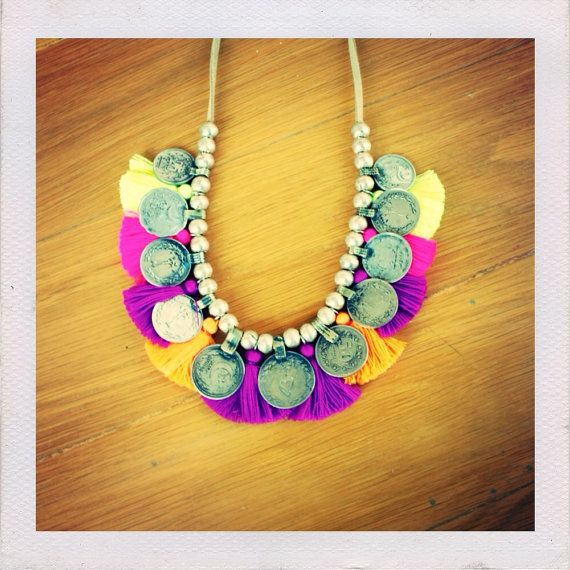Make Your Own Tassel Necklace: Rio Necklace Tassel & Coin Beaded Necklace