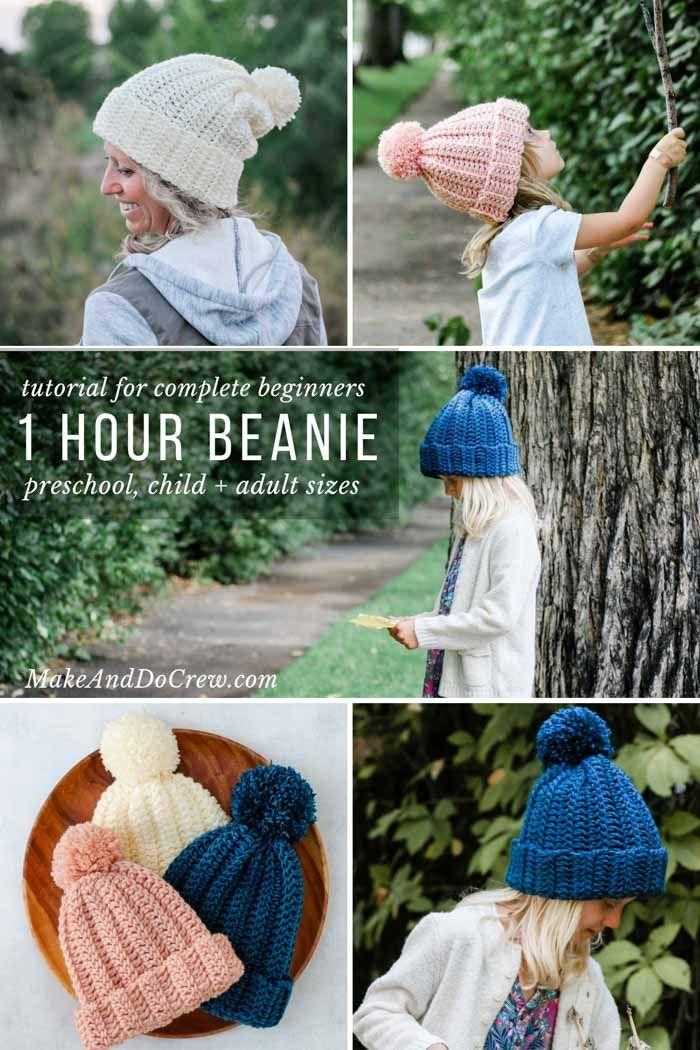 1 Hour Easy Crochet Hat Pattern Video For Beginners Hats