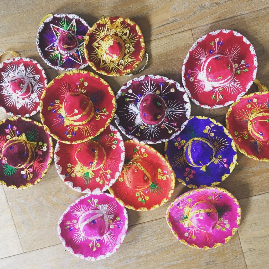 These super fun mini sombreros are a great addition to your Fiesta as an  authentic Mexican party accessory. Each hat is embellished with sequins and  shiny ... 2179491d27f