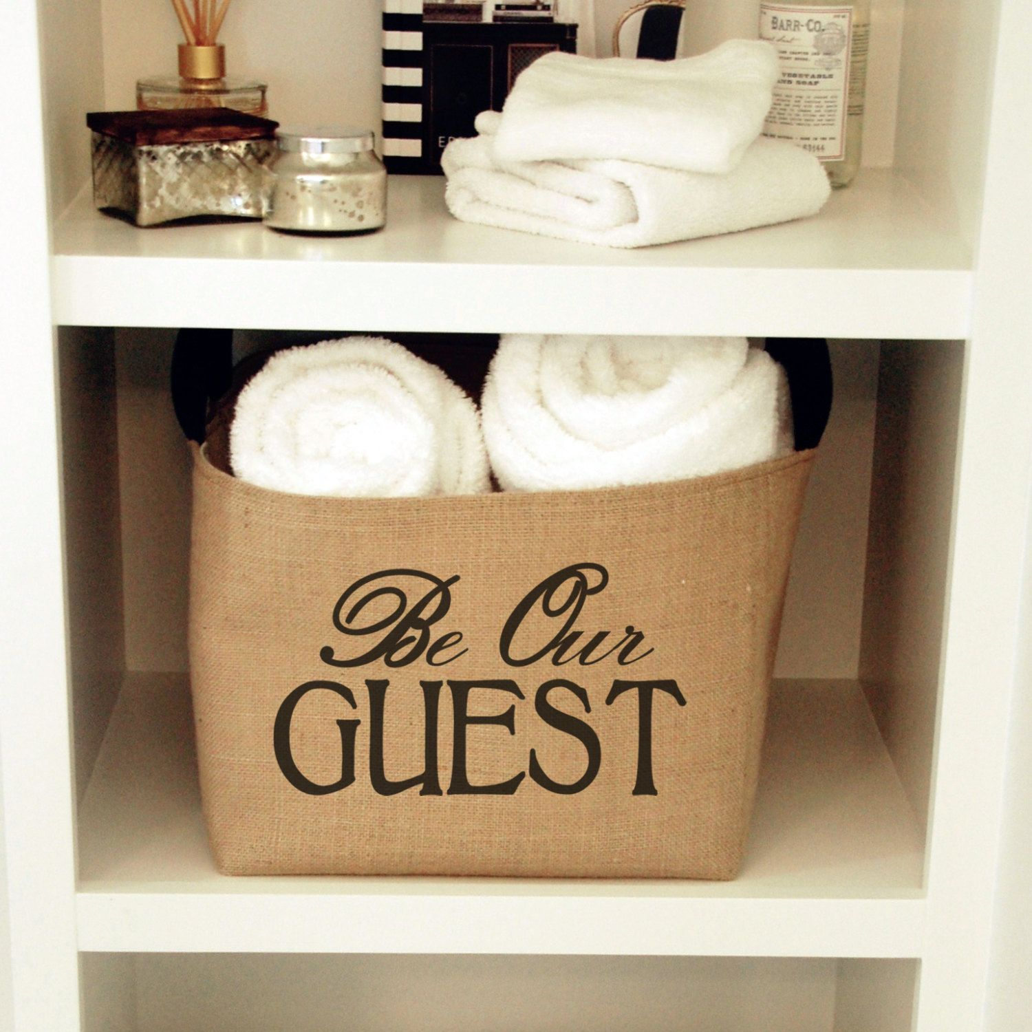 Burlap bathroom ideas - Burlap Bathroom Decor