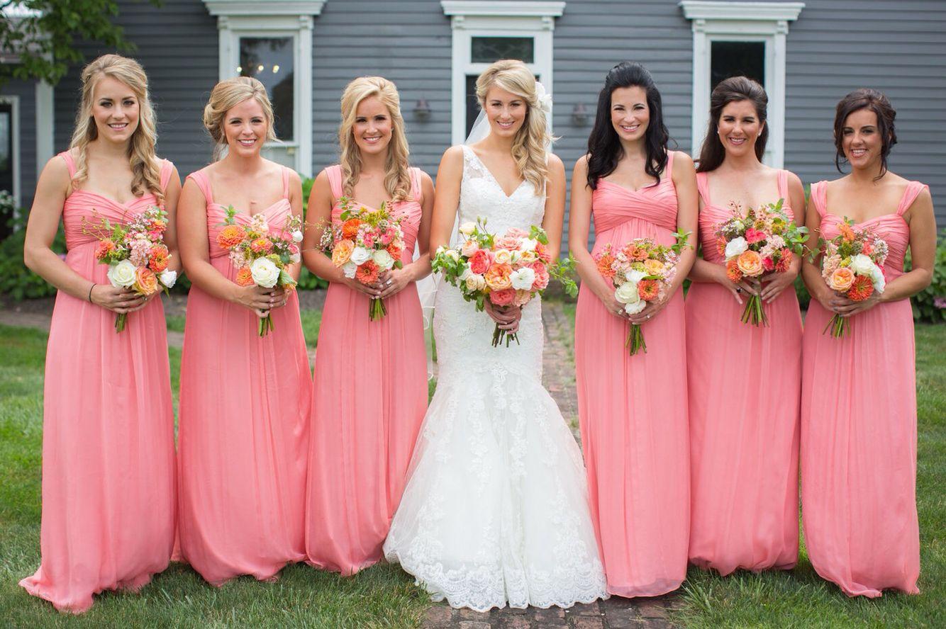 Amsale guava chiffon bridesmaids dress coral barn wedding amsale guava chiffon bridesmaids dress coral barn wedding ombrellifo Gallery