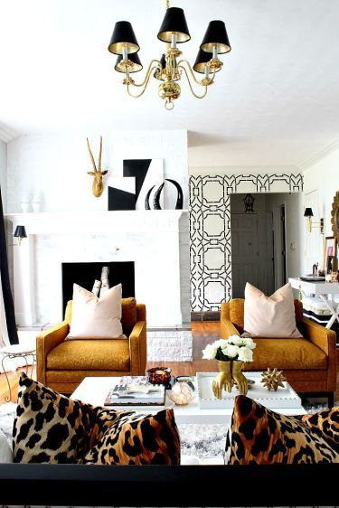Ultra Glam And 70u0027s Inspired Living Room Via Bliss At Home. See The Full  Tour