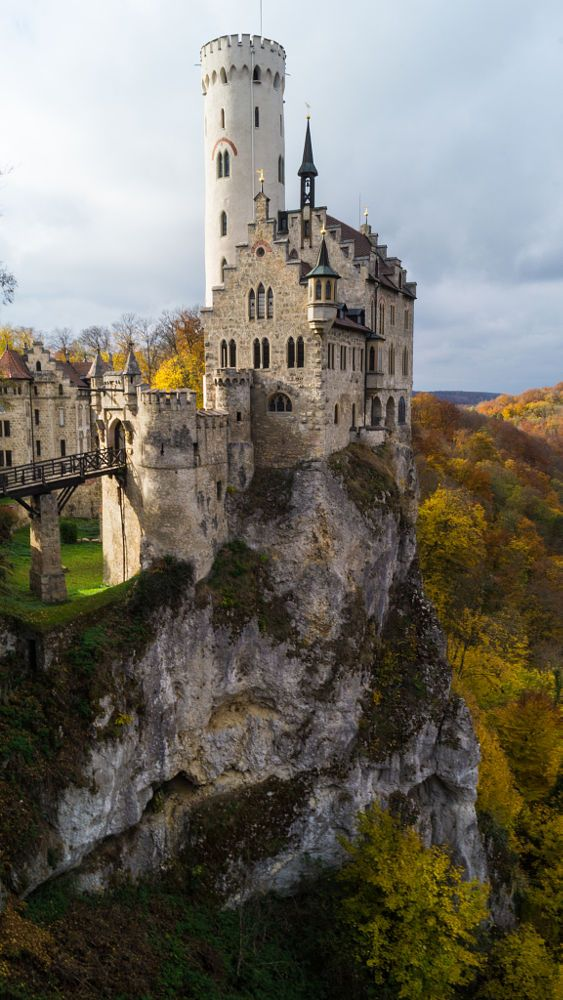 Lichtenstein Castle in colorful autumn scenery, Germany by Catrin Lange on 500px