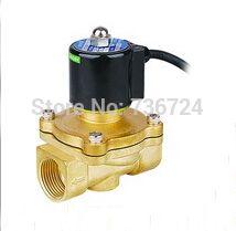 Brass Part Water Proof Solenoid Valve 1 1 2 Inch Plumbing Valve Waterproof