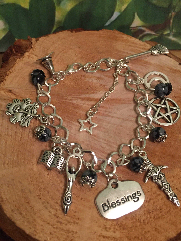 Tree Of Life Wicca Bracelet Wiccan Charm Pagan Jewelery