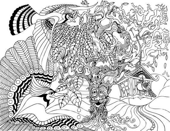 Pin de Anja Burg en Coloring pages for adults 2 | Pinterest