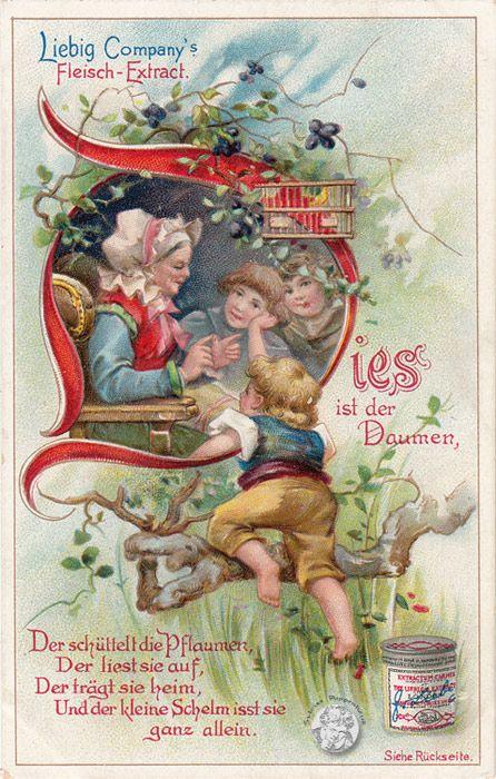 Liebig S571 Liebig Serie Arnold 404/S. 571, Kinderreime III, 1898