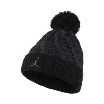 82a992d2c1392 ... greece jordan jumpman cable knit hat by nike black 66c34 42986