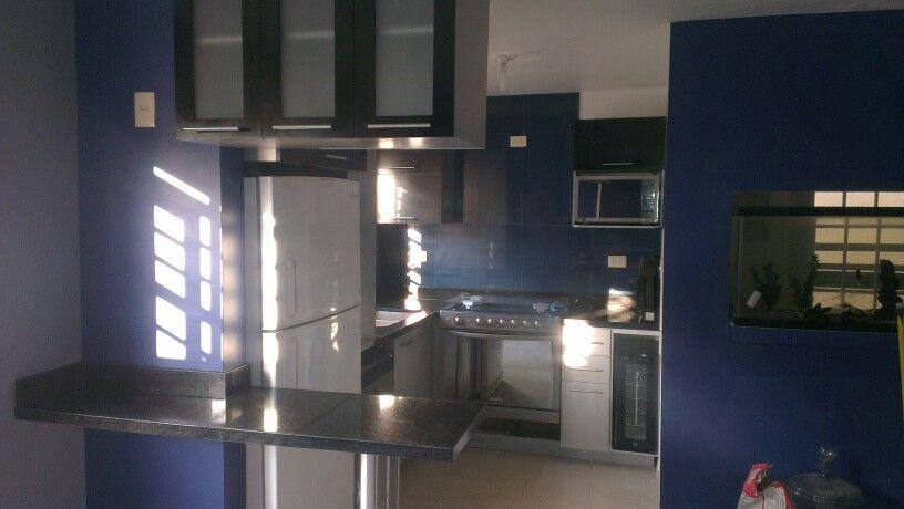 Cocina Azul Y Gris Cocina Azul Fotos De Cocina Unas Azules