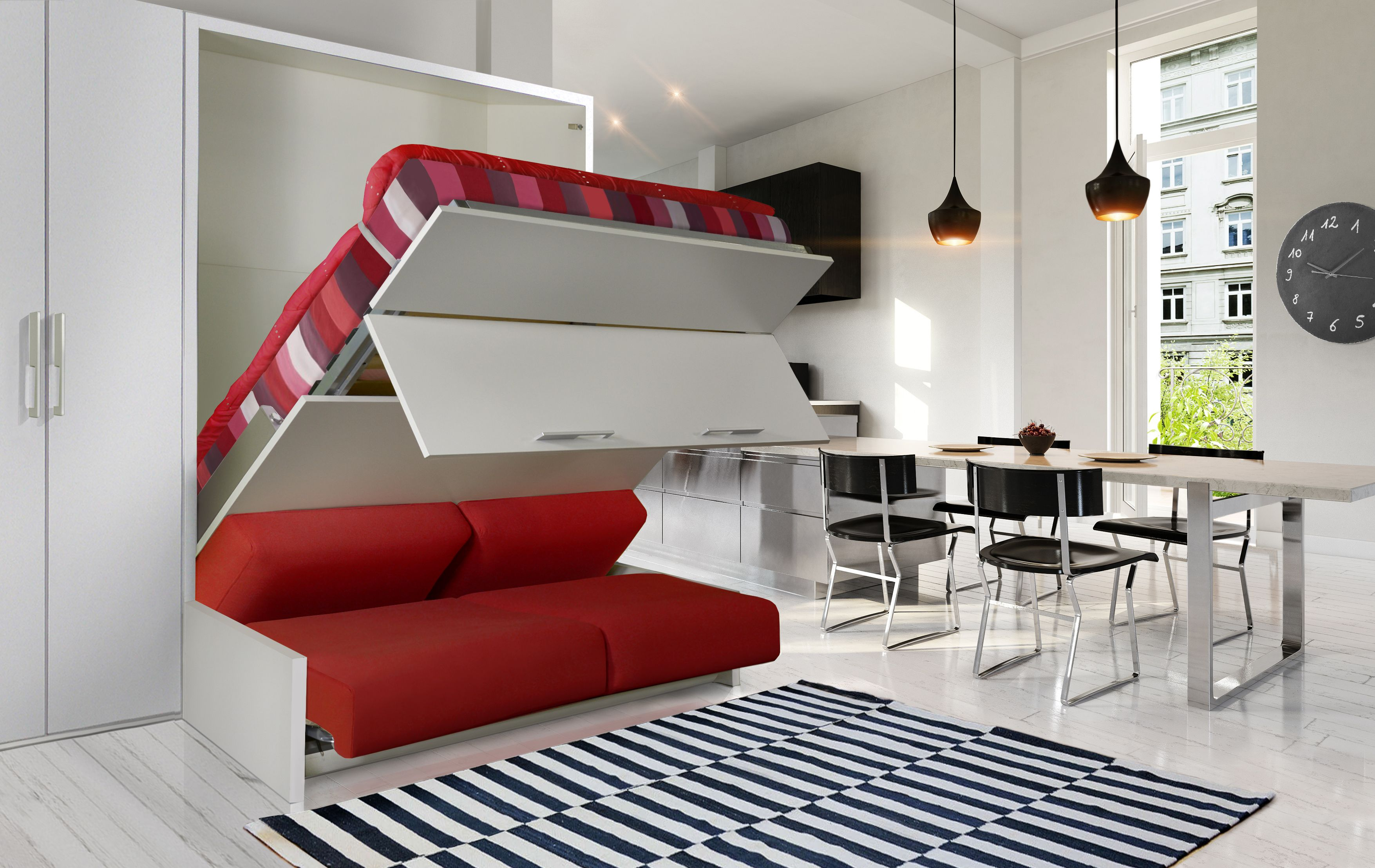 armoire lit 140 de couchage avec plusieurs profondeurs. Black Bedroom Furniture Sets. Home Design Ideas