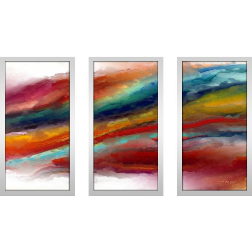 "FramedCanvasArt.com Mark Lawrence ""Ml 1 Corinthians 13 4 Max"" Framed Plexiglass Wall Art Set of 3"
