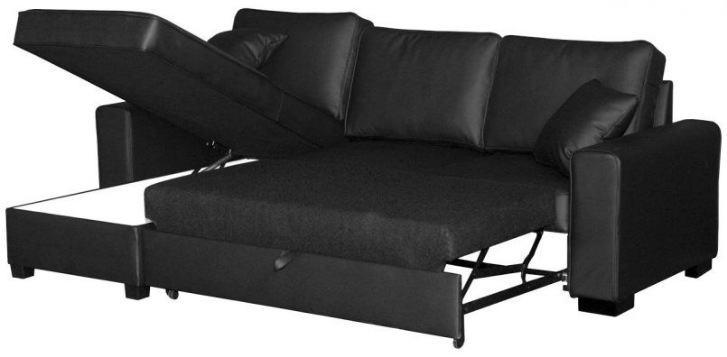 Furniture Fold Out Couch Click Clack Sofa Bed Leather Sectional