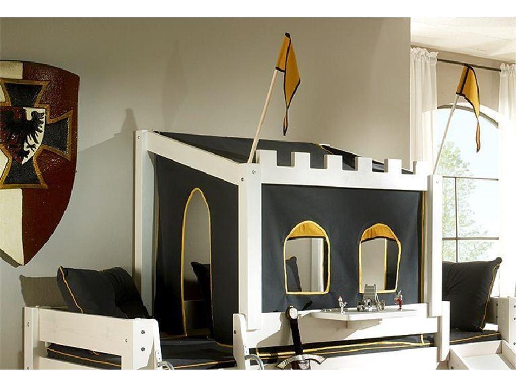 Ritterburg-Aufsatz mit Textilien für Dolphin Betten, inklusive ...