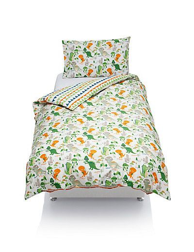 Best Pure Cotton Dinosaur Print Bedding Set M S Print 400 x 300
