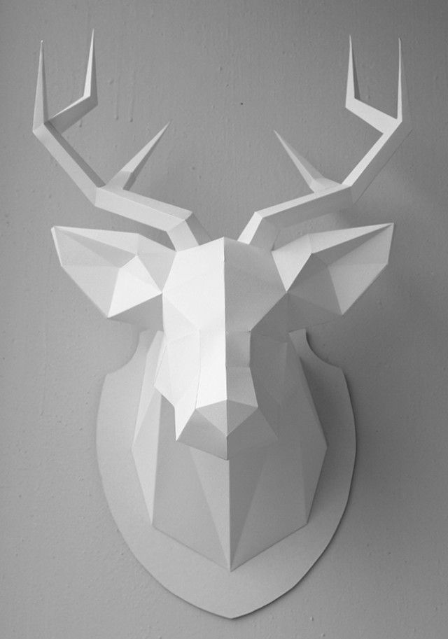 deer head low poly recherche google paper crafts. Black Bedroom Furniture Sets. Home Design Ideas