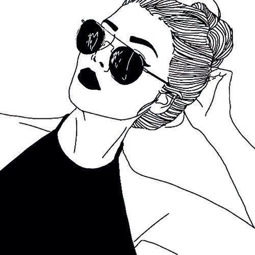 Dibujos Faciles De Girls Art Noir Noir Et Blanc Dessine Dessin Mode Cheveux Hipster Dessin Art Tumblr Les Arts