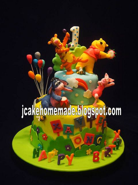 Winnie The Pooh Birthday Cake By Jcakehomemade Via Flickr