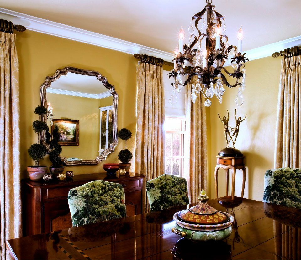 "Feast Your Eyes Gorgeous Dining Room Decorating Ideas: Sherwin Williams Paint #6388 ""Golden Fleece"" In Eggshell"