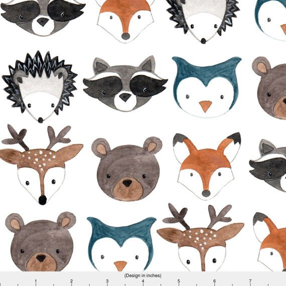 Forest Animal Fabric Woodland Creatures By Bluebirdcoop