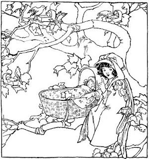 rock a bye baby coloring page