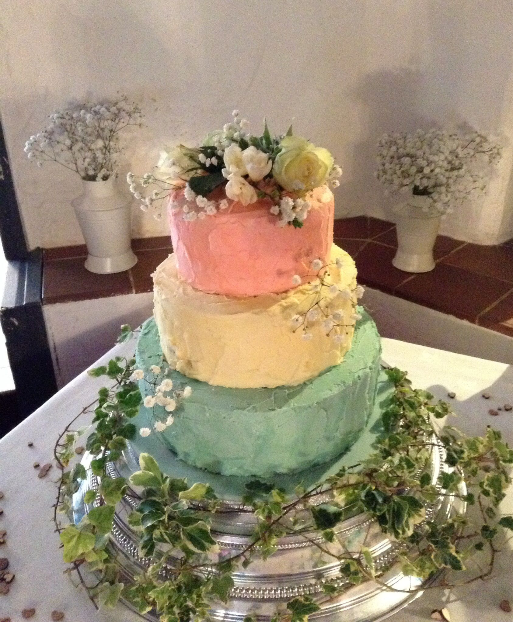 Three Tier Wedding Cake Three Flavours Of Sponge With A