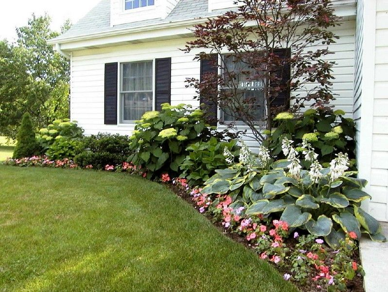 Flower beds around house foundation landscape design for Plants for landscaping around house