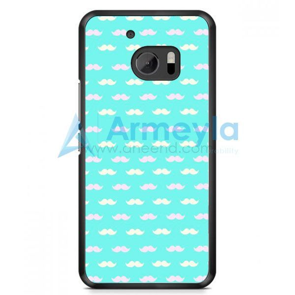 Pink White Mustache HTC One M10 Case | armeyla.com
