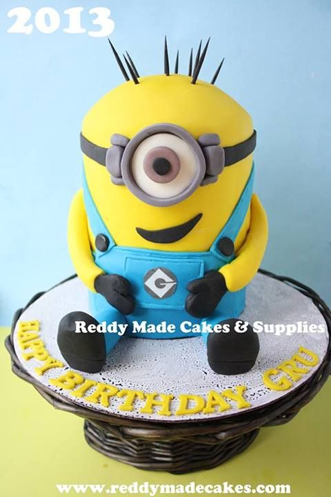 Minion Birthday Cake by Reddy Made Cakes, Abbotsford, British Columbia, Canada. You'll find this Cake Appreciation Society Member in our Directory at www.cakeappreciationsociety.com