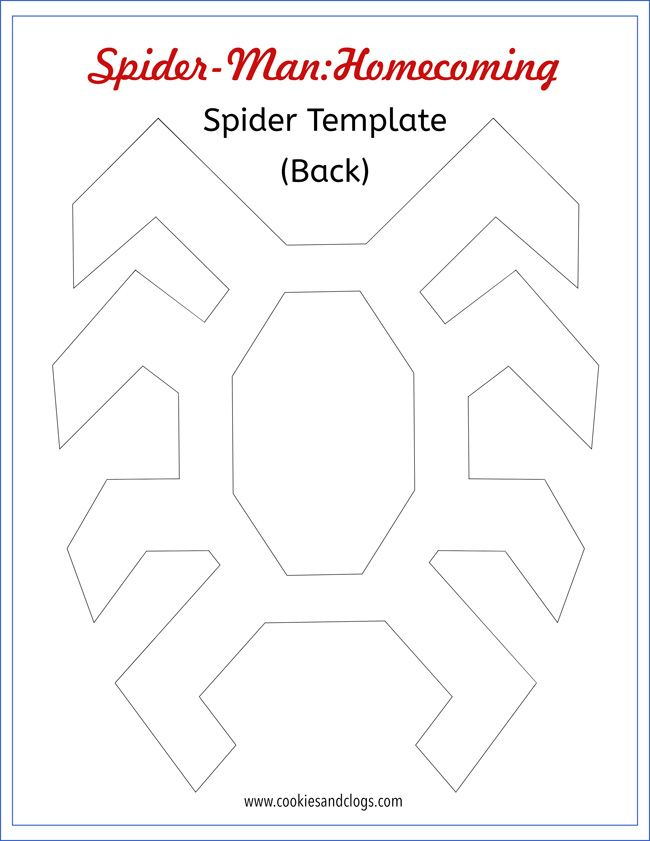 How to make an easy spider man diy outfit w printable spider template voltagebd Image collections