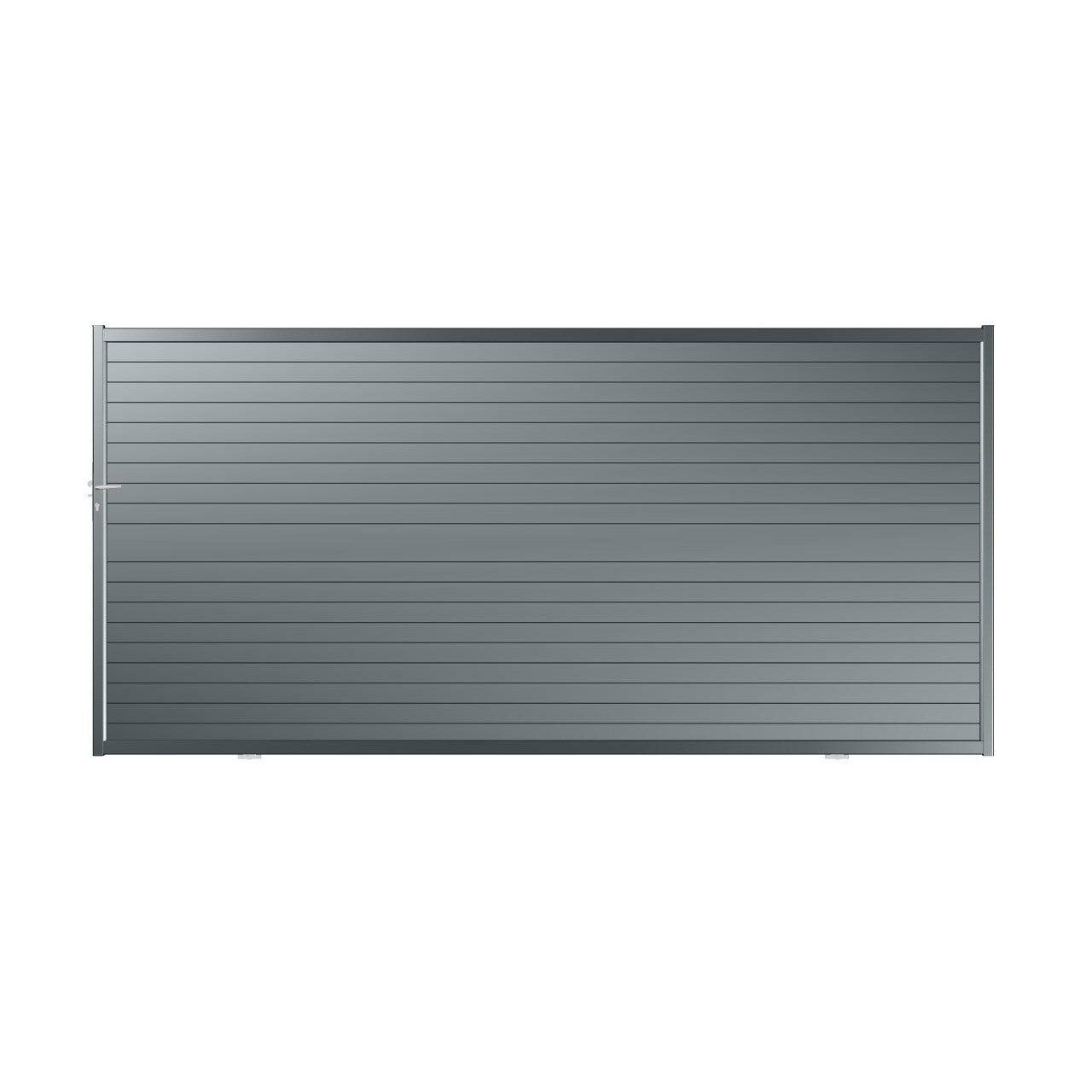 Portail Coulissant Aluminium Nametyr Gris Anthracite Roy L