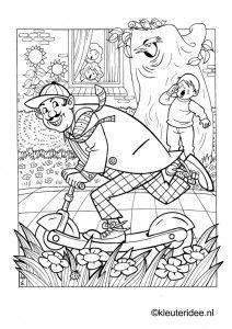 Stepje Wordt Gestolen Kleurplaat Op Kleuteridee Scooter Is Stolen Free Printable Coloringpage Paper CraftsPreschoolDoodlesColoringKid