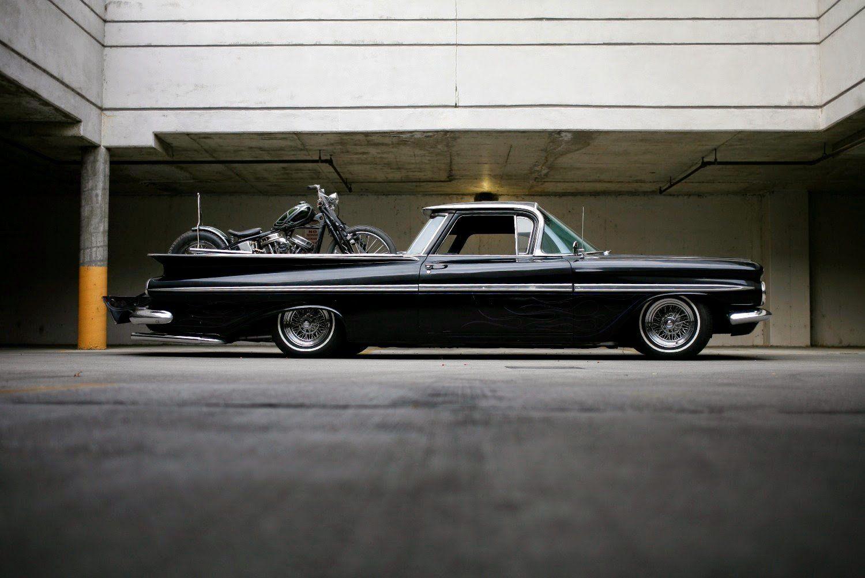 1959 Chevrolet El Camino pickup retro custom lowrider hot rod rods ...