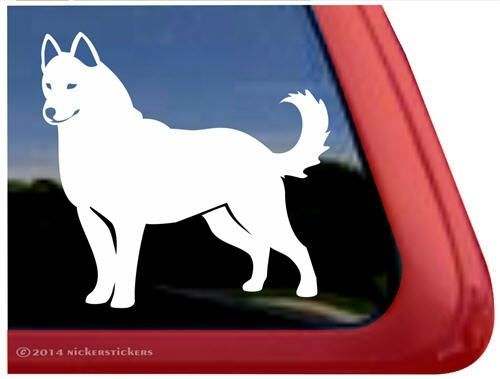 Custom Solid Siberian Husky Dog Car Truck Window Decal
