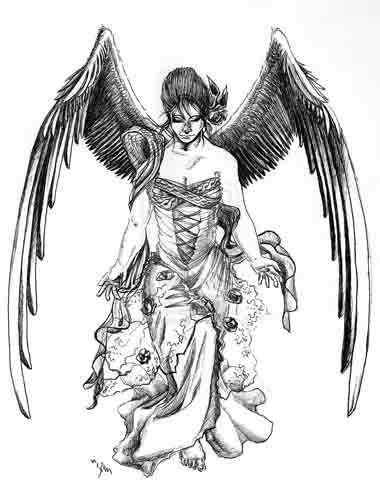 diseño tatuaje angel | ANGEL | Pinterest | Tatuaje angel, Diseños ...