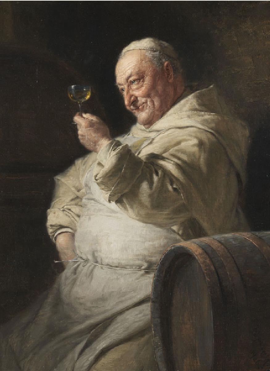 Eduard von Grützner: Когда монахи пьют.  Кажется, они пьют по праздни�...