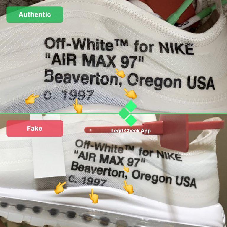 real vs fake off white air max 97