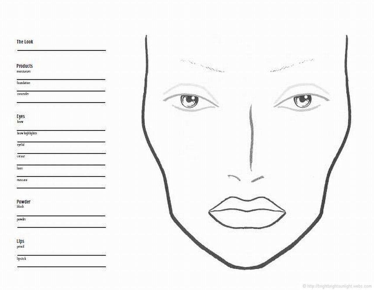 Mac Face Chart In
