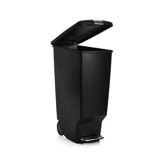Simplehuman Black 40 Liter 10 5 Gallon Slim Trash Can Trash Can Simplehuman Trash Barrel