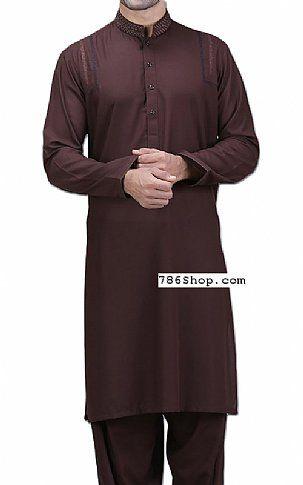 49f46b344e Dark Brown Men Shalwar Kameez   Buy Pakistani Designer Fashion Dress ...
