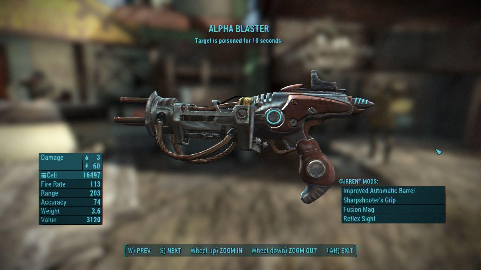 Venomous Alpha Blaster at Fallout 4 Nexus - Mods and community
