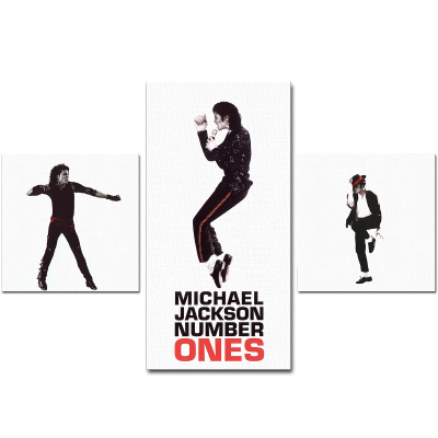 Michael Jackson Number Ones Composition canvas print max size 95 см х 70 см