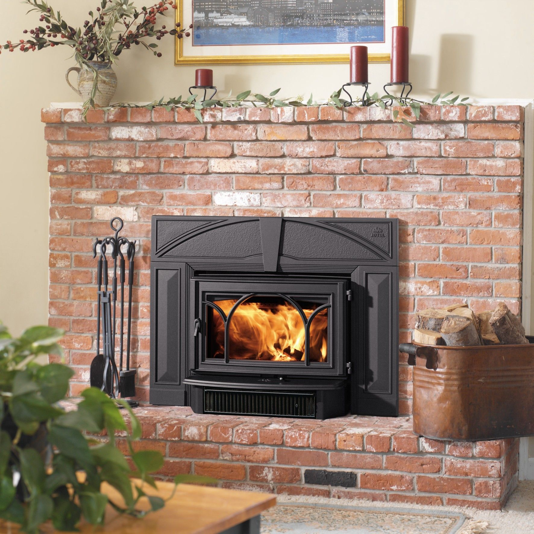 Jotul C 450 Kennebec Wood Insert Fireplaces Wood Burning Fireplace Inserts Wood Insert Wood Burning Fireplace
