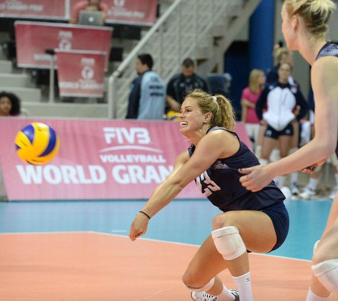 Usa Volleyball Takes World Grand Prix Opener Against Germany Usa Volleyball Volleyball Beautiful Athletes